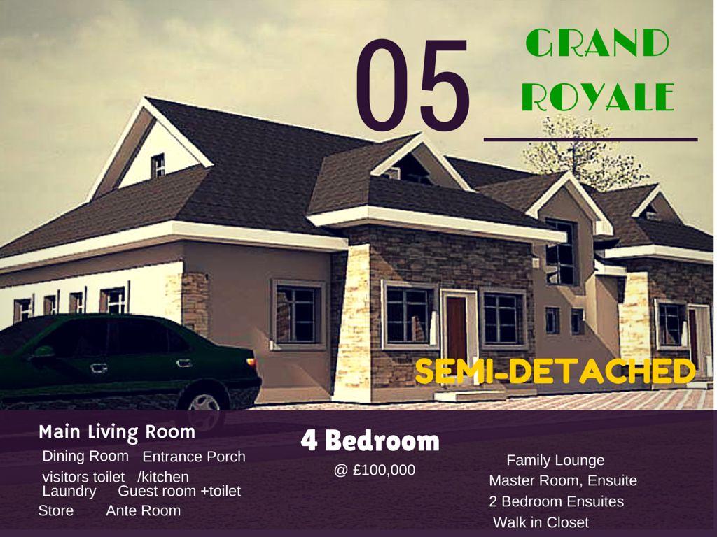 Grand Royale Deluxe Semi Detached Duplex – Lekki